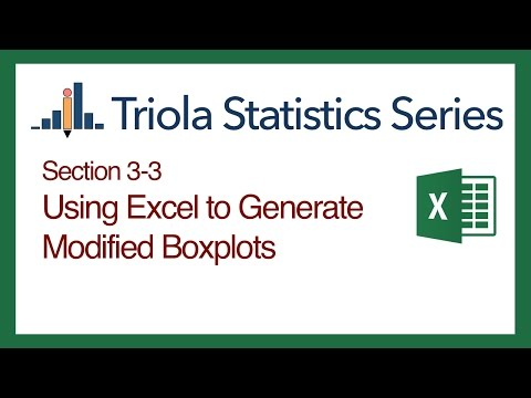 Excel Section 3-3: Using Excel to Generate Modified Boxplots