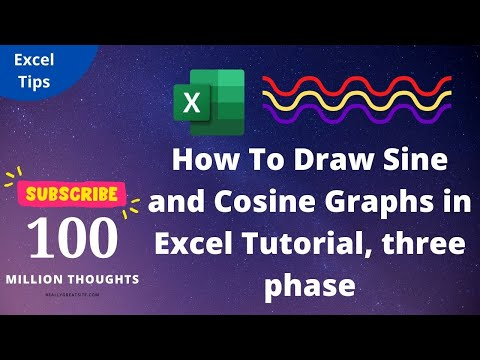 How To Draw Sine and Cosine Graphs in Excel Tutorial, three phase