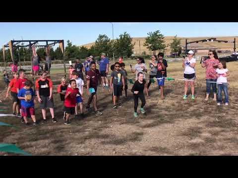 Doing the MiniMudder Race - as part of Tough Mudder!