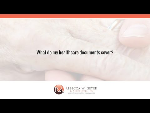 What do my healthcare documents cover?