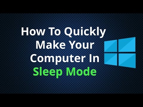 How To Quickly Get Your Computer In Sleep Mode
