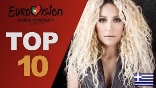 Eurovision 2018 Top 10 So Far w Comments New Greece