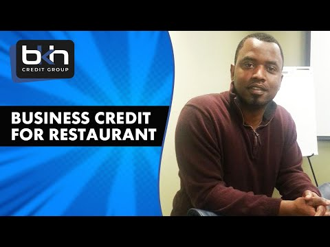 How to build business credit for a restaurant