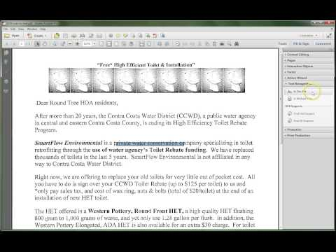 Adobe Acrobat XI: OCR Scanned Text to Searchable or Editable Document