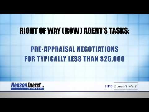 What is a ROW Agent | HensonFuerst | Land Condemnation Attorneys
