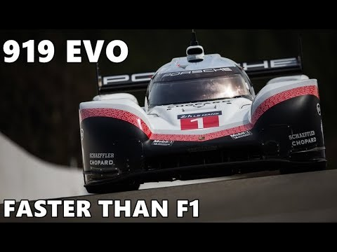 Porsche 919 Hybrid Evo Laps Spa Faster Than F1 Cars