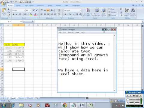 Calculate Compound Annual Growth Rate (CAGR) in Excel