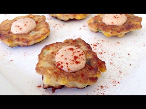 Potato Corn Fritters - Easy PARTY Appetizer Recipe