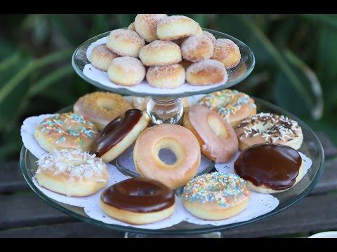 How to make Homemade Krispy Kreme Style Baked Donuts Doughnuts Recipe by Heghineh