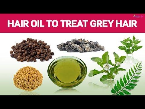 Homemade Hair Oil to Darken White Hair | Grey Hair - DIY