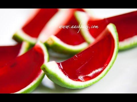 Jello & lime Garnish (Mini Watermelon)