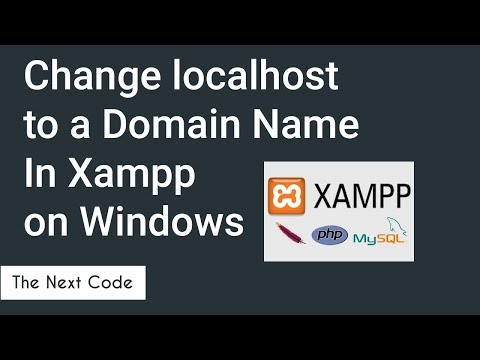 How to Change localhost to a Domain Name in XAMPP on Windows
