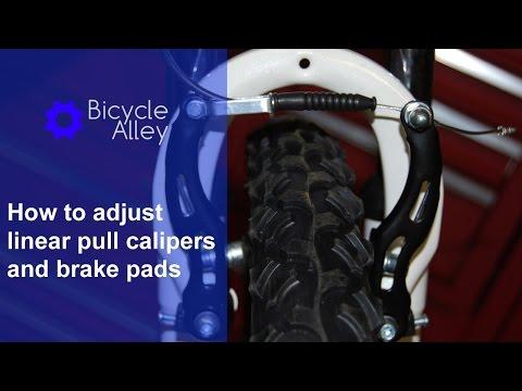 How to adjust linear pull brake calipers and brake pads  - Walmart Roadmaster Granite Peak bicycle