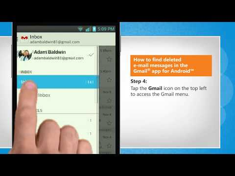 How to find deleted e-mail messages in the Gmail® app for Android™