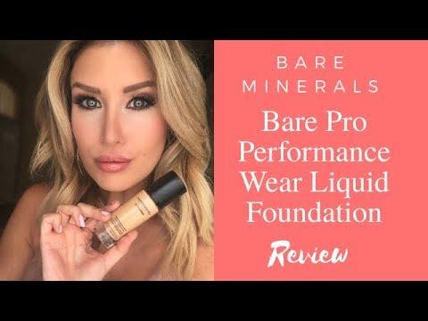 Bare Minerals BARE PRO Performance Wear LIQUID Foundation Review + Demo!