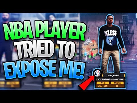 REAL NBA PLAYER TRIED TO EXPOSE ME!! Intense MyPark Game! - NBA 2K18
