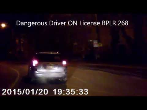 Dangerous driver Ontario license plate BPLR 268 (North York Ontario)