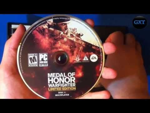 (MOH) Medal of Honor Warfighter + Limited Edition BF4 Beta 2012 Video Game Unboxing-Overview HD 720P