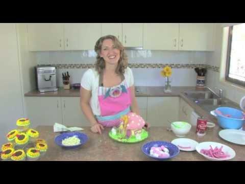 Fairy House Jumbo Cupcake Tutorial