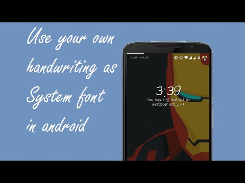 How to use  your own handwriting as a font in android
