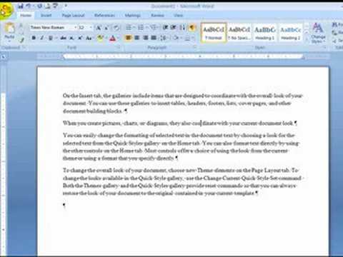 Word 2007 - hanging indents