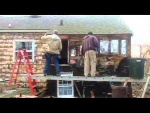 West Islip house remove old cedar shingle siding