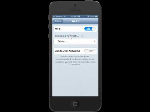 Apple iPhone 5 Join Wi-Fi Networks Automatically