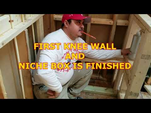 Bathroom RENOVATION part three(build shower knee walls.seats and niches