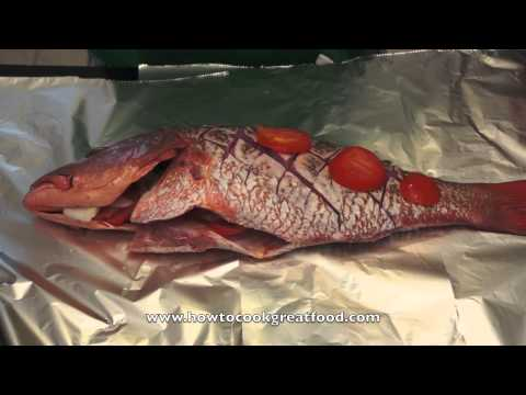 Jamaican Food - Oven Baked Red Snapper Recipe Whole Fish Allspice Scotch Bonnet