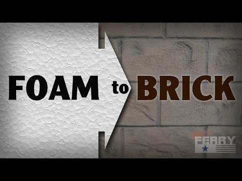 Ⓕ How To Make Styrofoam Look Like Brick (ep65)