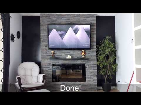 Easy Fireplace/TV Wall