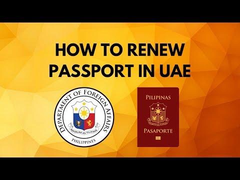 How To Renew Passport In UAE