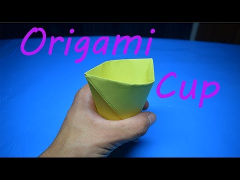 How to Fold an Origami Cup that Holds Water!