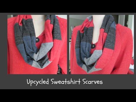 Upcycled Sweatshirt Scarves