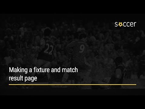 WP Soccer Tutorial: Making a fixture and match result page