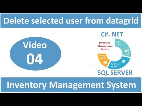 delete selected user from datagrid in Inventory management system