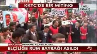 KKTC de Türkiye karşıtı pankart   Kanal D Haber   Kanal   Oynat Tv