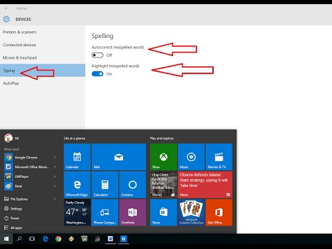 How to Turn Off/Disable AutoCorrect Spelling in Windows 10