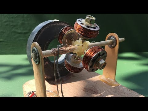 How to make powerful DC motor - Science School Project very simple at home
