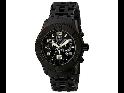 Invicta 6713 Men's Sea Spider Collection Chronograph Black Ion-Plated Watch Review Video