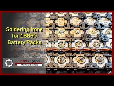 Soldering Irons for 18650 Battery Packs