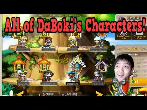 Maple Monday - All Of DaBoki's MapleStory Characters
