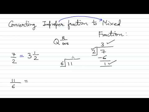 Proper, Improper and Mixed Fractions