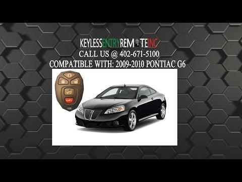 How To ReplaceA  Pontiac G6 Key Fob Battery 2005 - 2010