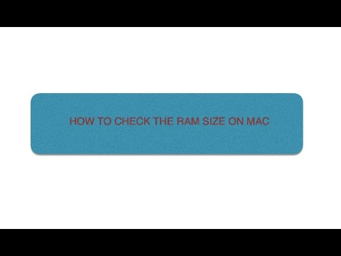 HOW TO CHECK RAM SIZE ON 13