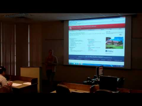 Library Resources for Graduate Students: Part 1