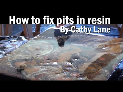 How To Fix Pits In Resin