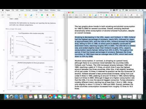 How to Get a 7 or 8 on the IELTS Academic Writing Task 1: Comparing 2 Line Graphs