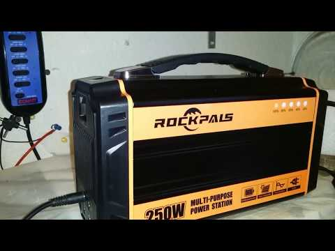 Rockpals 250W Solar Generator Battery Power Backup Unboxing Review