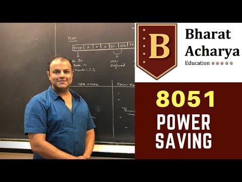 8051 | Power Saving Modes | Bharat Acharya Education